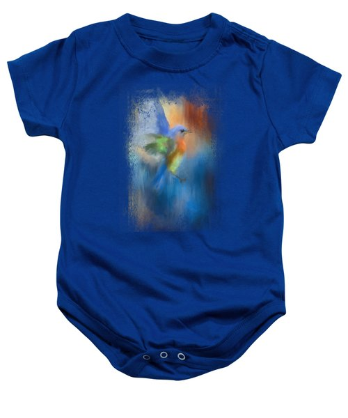 Flight Of Fancy Baby Onesie by Jai Johnson