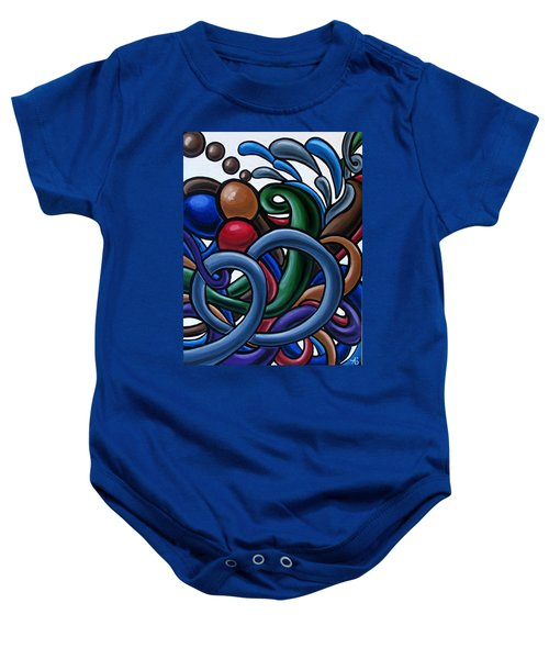 Colorful Abstract Art Painting Chromatic Water Artwork Baby Onesie