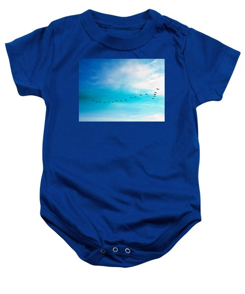 Flying Away Baby Onesie by Jose Rojas