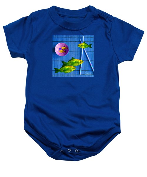 Flying Fish And The Pink Moon Baby Onesie