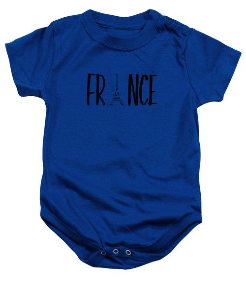 France Typography Baby Onesie by Melanie Viola