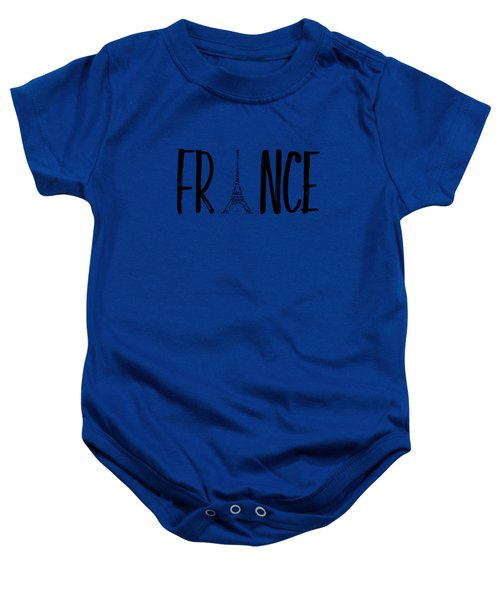 France Typography Baby Onesie