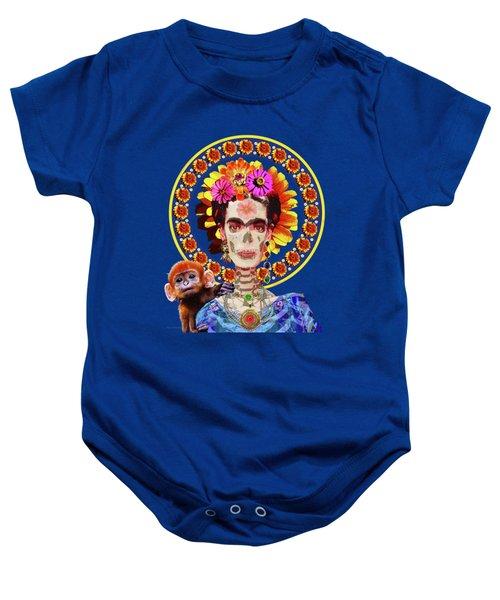 Frida De Muertos Baby Onesie