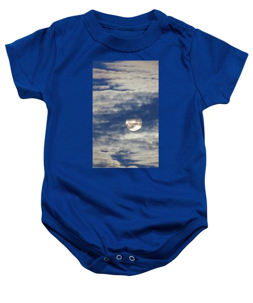 Full Moon In Gemini With Clouds Baby Onesie