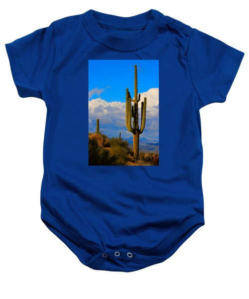 Giant Saguaro In The Southwest Desert  Baby Onesie