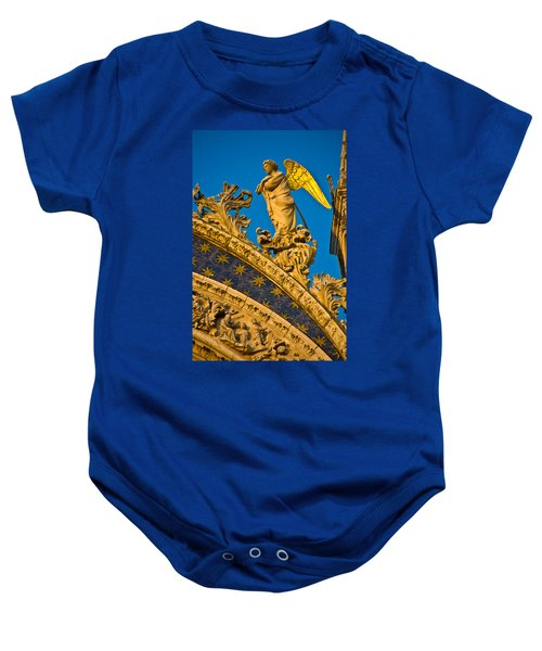 Golden Angel Baby Onesie