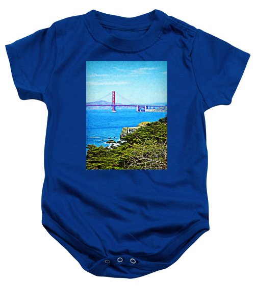 Golden Gate Bridge From The Coastal Trail Baby Onesie
