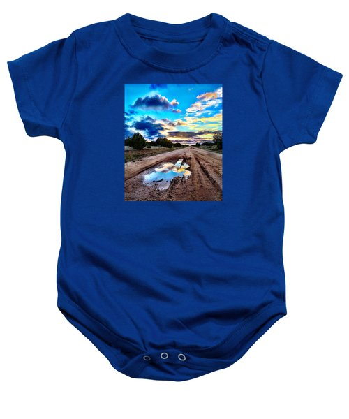 Golden Hour Pool Baby Onesie