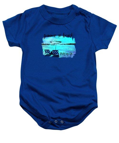 Graphic Art Summer And Beach Baby Onesie