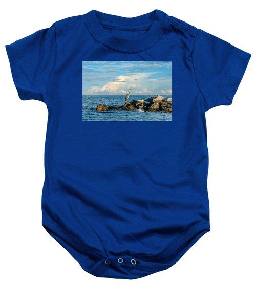 Great Blue Heron World Baby Onesie