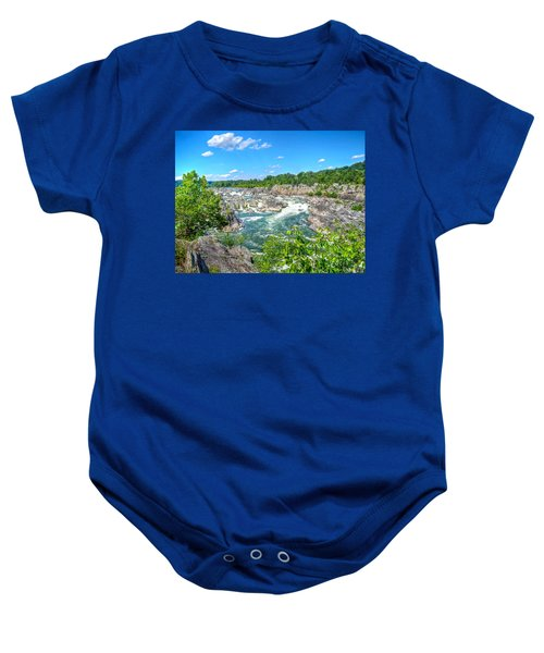 Great Falls On The Potomac Baby Onesie