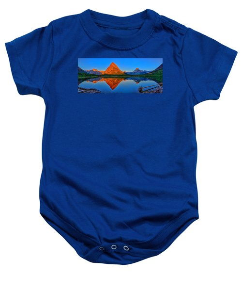 Grinnell Point Alpenglow Panorama Baby Onesie