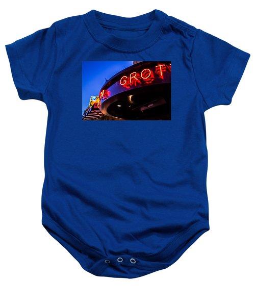 Grotto - Night View Baby Onesie