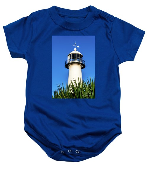 Gulf Coast Lighthouse Seascape Biloxi Ms 3819a Baby Onesie