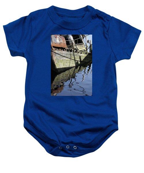 Half Sunk Boat Baby Onesie