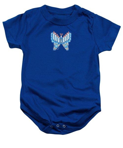 Hanukkah Butterfly Baby Onesie