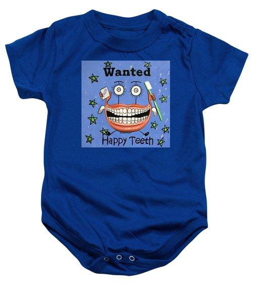 Happy Teeth Baby Onesie