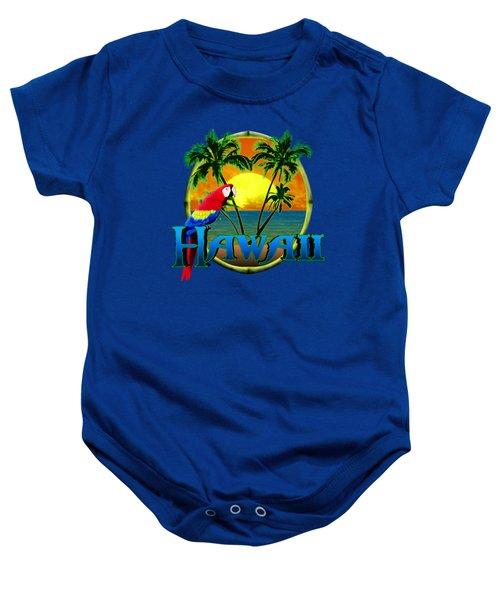 Hawaii Parrot Baby Onesie by Chris MacDonald