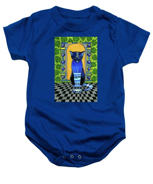 He Is Back - Blue Cat Art Baby Onesie