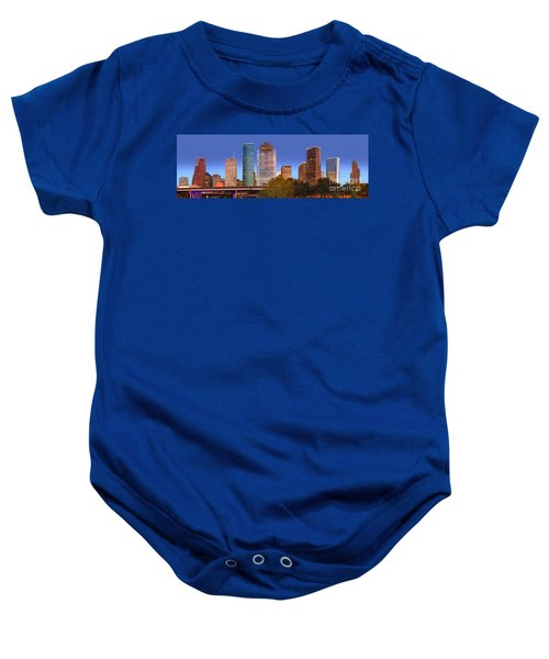 Houston Texas Skyline At Dusk Baby Onesie