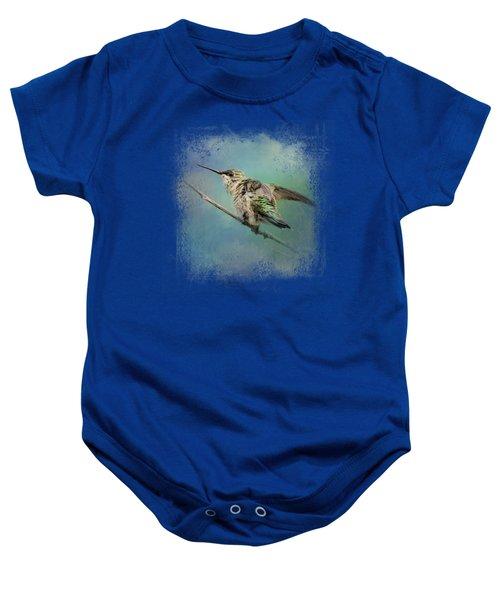 Hummingbird On Mint Baby Onesie