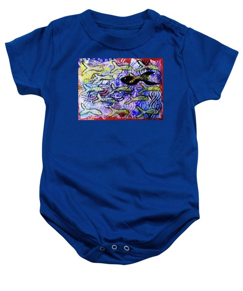 I'm The Black Fish Of The Family Baby Onesie