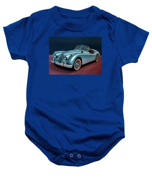 Jaguar Xk140 1954 Painting Baby Onesie