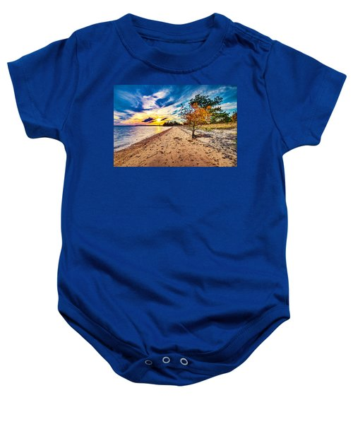 James River Sunset Baby Onesie