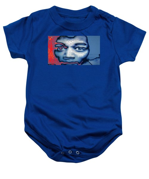 Jimi Hendrix Oh Say, Can You See The Rockets Red Glare Baby Onesie