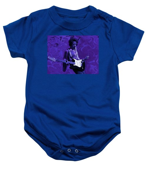 Baby Onesie featuring the photograph Jimi Hendrix Purple Haze by David Dehner