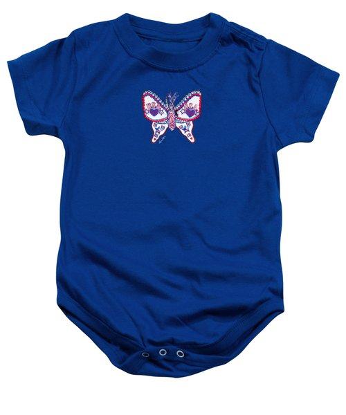 July Butterfly Baby Onesie