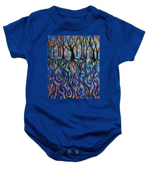Kaleidoscope Forest Baby Onesie