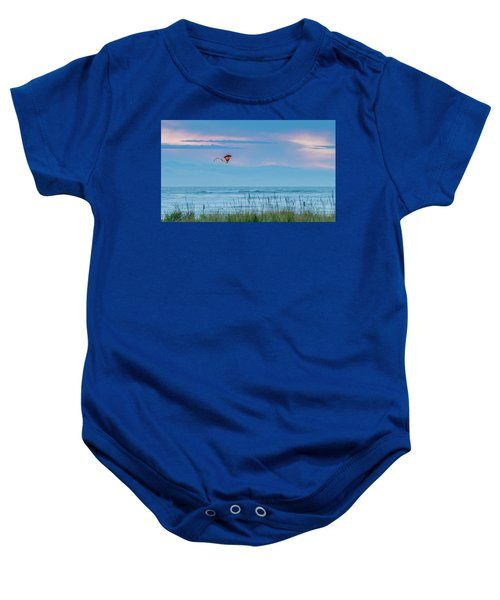 Kite In The Air At Sunset Baby Onesie