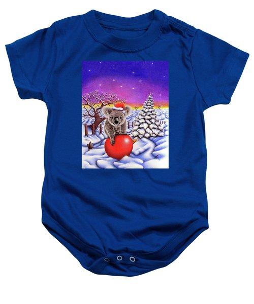 Koala On Christmas Ball Baby Onesie