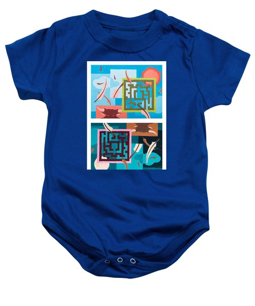 Labyrinth Night And Day Baby Onesie