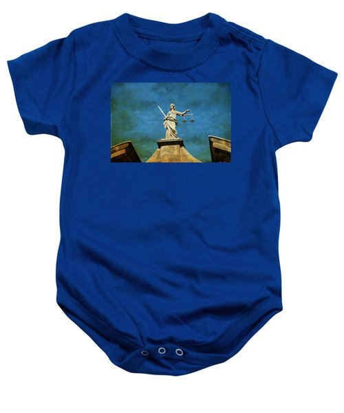Lady Justice. Streets Of Dublin. Painting Collection Baby Onesie