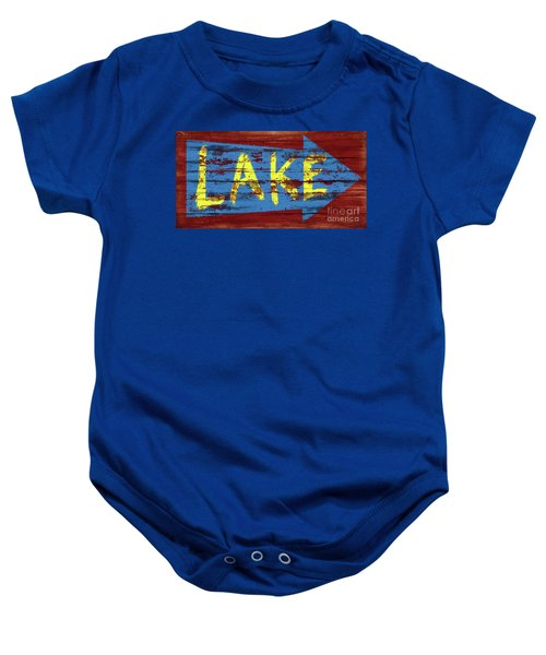 Lake Sign Baby Onesie