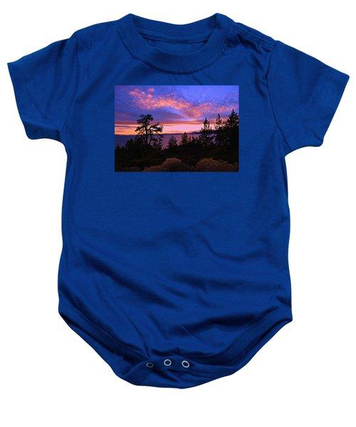Lake Tahoe Crescendo Baby Onesie