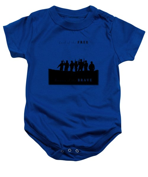 Land Of The Free Graphic Baby Onesie