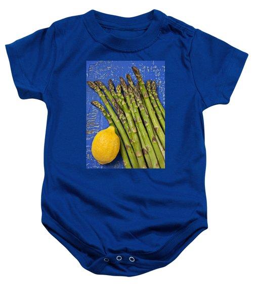 Lemon And Asparagus  Baby Onesie