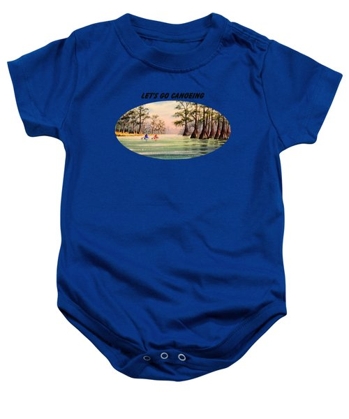 Let's Go Canoeing Baby Onesie by Bill Holkham