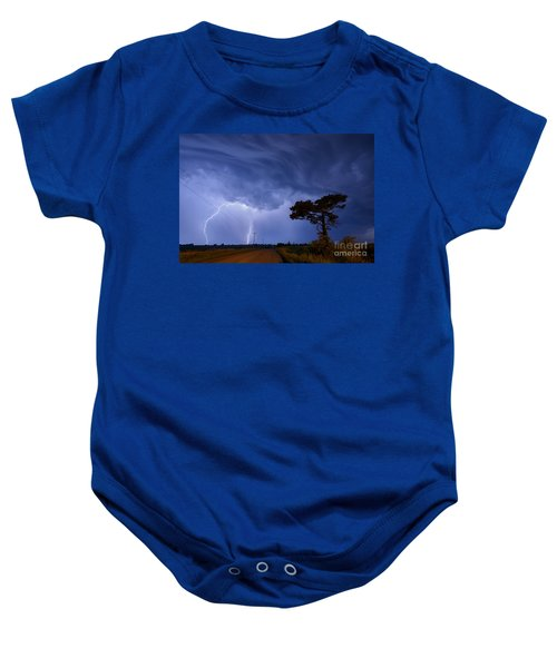 Lightning Storm On A Lonely Country Road Baby Onesie