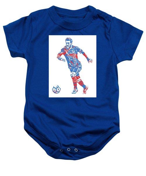 Lionel Messi F C Barcelona Argentina Pixel Art 1 Baby Onesie