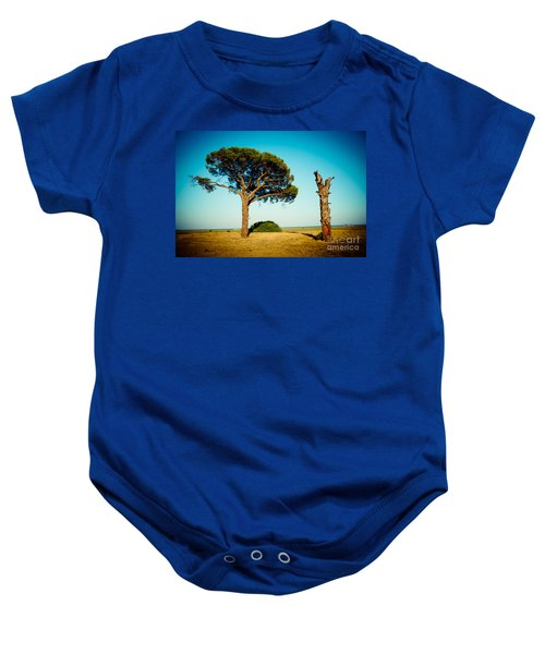 Live And Dead Tree At Seacoast Baby Onesie