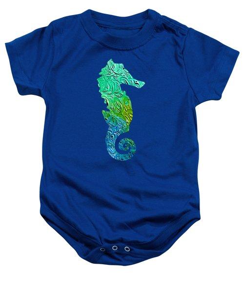 Lively Seahorse Baby Onesie