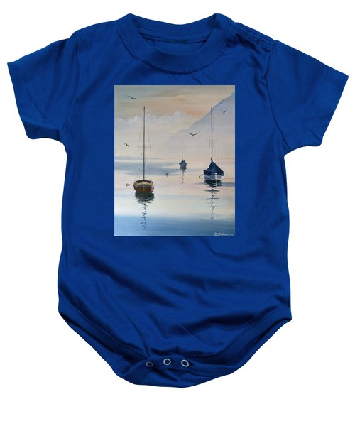 Locarno Boats In February-2 Baby Onesie