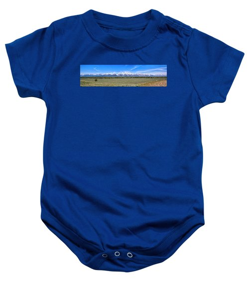 Lone Tree And The Tetons Baby Onesie