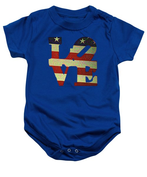 Love The Usa Baby Onesie