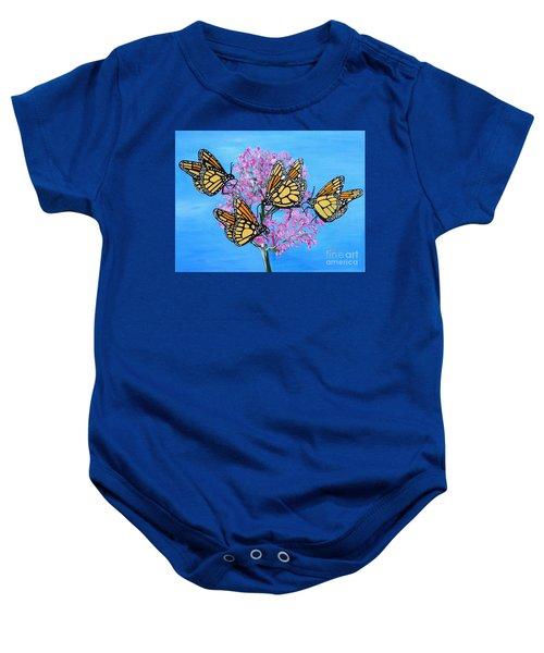 Butterfly Feeding Frenzy Baby Onesie