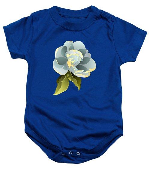 Magnolia Blossom Graphic Baby Onesie